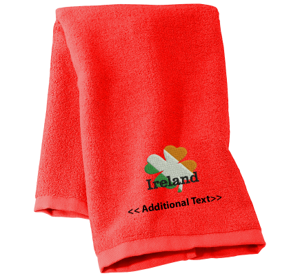 Personalised Irish Clover Seasonal Towels Terry Cotton Towel