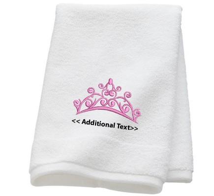 Personalised Crown  Wedding Towel Terry Cotton Towel