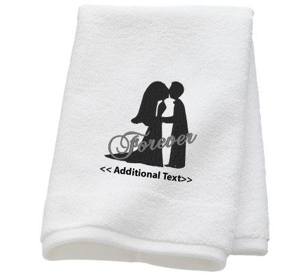 Personalised Forever Wedding Towel Terry Cotton Towel