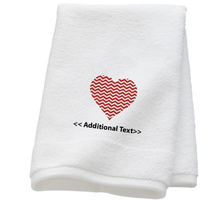 Personalised Heart Wedd Wedding Towel Terry Cotton Towel